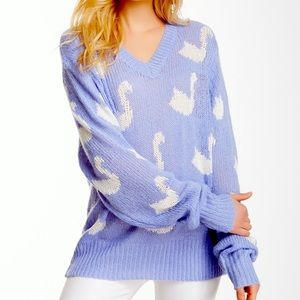 Wildfox White Label Swan Sweater